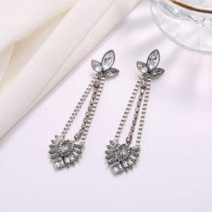 Retro Geometric Zircon Design Earrings